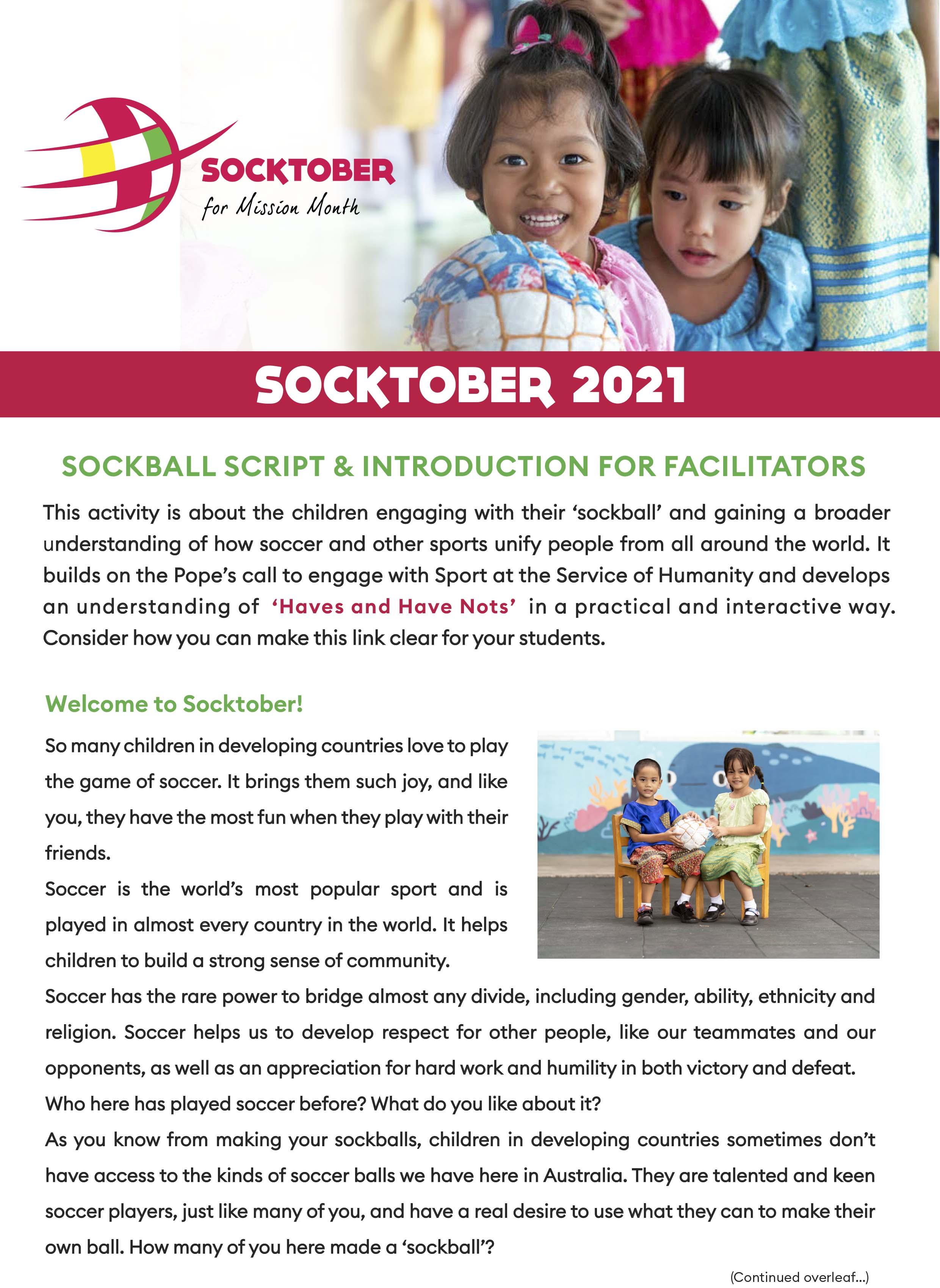 Sockball Script and Introduction